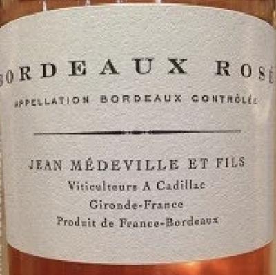 2019 Jean Medeville et Fils Bordeaux Rosé