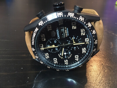 Tag Hauer Carrera Calibre 16 quartz watch, часы кварцевые хронограф