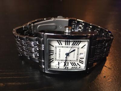 Cartier watch unisex quartz, часы кварцевые унисекс