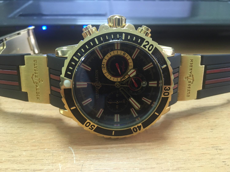 Ulysse Nardin watch mens quartz chronograph