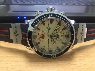 Ulysse Nardin watch mens quartz chronograph