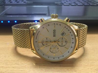 Hugo Boss watch mens quartz chronograph