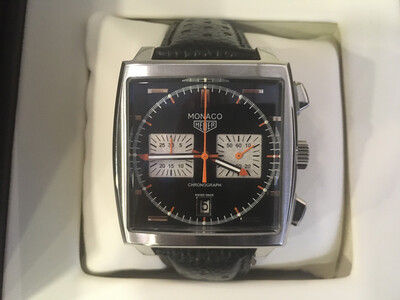Tag Heuer Monaco watch mens chronograph quartz