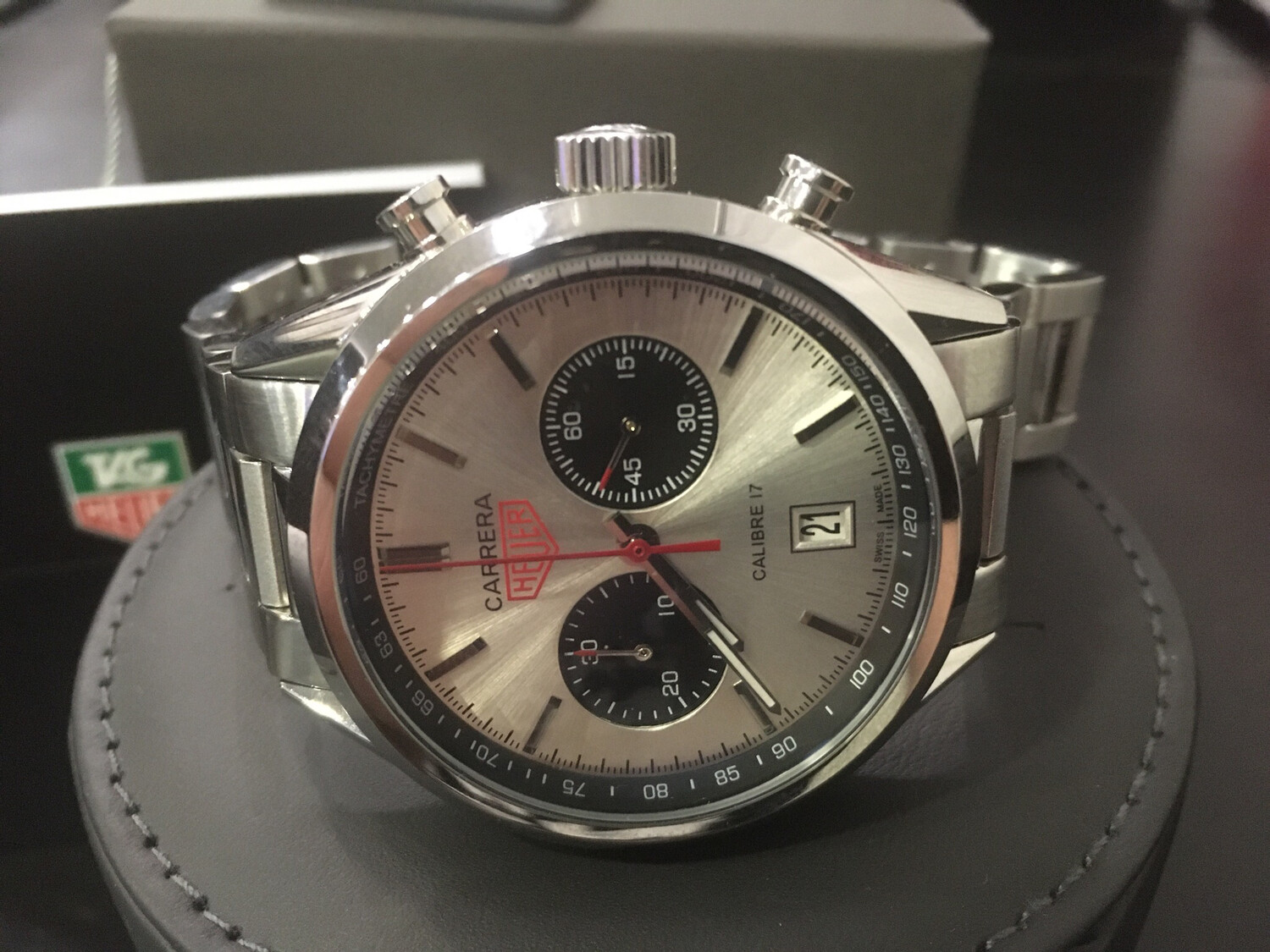 Tag Heuer Carrera watch mens chronograph