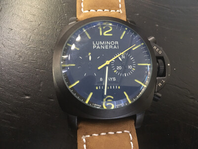 Panerai Luminor watch mens automatic mechanic