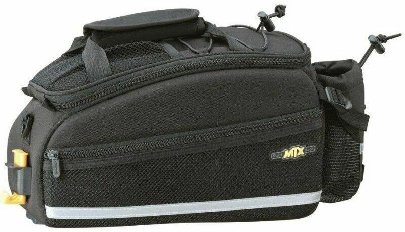 TOPEAK MTX EX TRUNKBAG W/BOTTLE POCKET BLACK