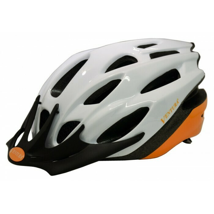 Ventura | White/Orange In-Mold Helmet in Size M (54-58 cm)