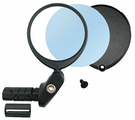 HAFNY STAINLESS LENS 62mm ALLOY BAR-END MIRROR L/R MOUNT BLACK