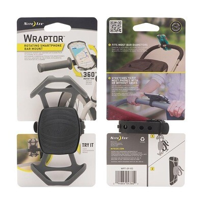 NITE-IZE WRAPTOR ROTATING HANDLEBAR MOUNT SMARTPHONE HOLDER