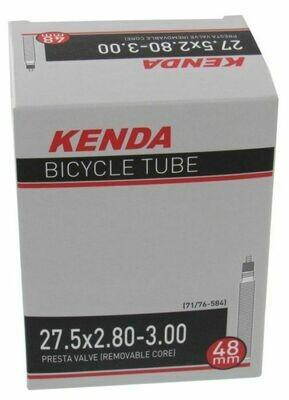 """KENDA 27.5x2.80/3.00"""" (71/76-584) REMOVABLE VALVE P/V 48mm STEM THREADED TUBE"""
