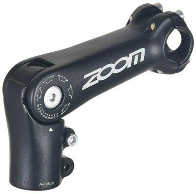 """ZOOM TDS-C269-8 ADJUSTABLE HEAD STEM 90mm 1-1/8"""" 25.4 BLACK"""