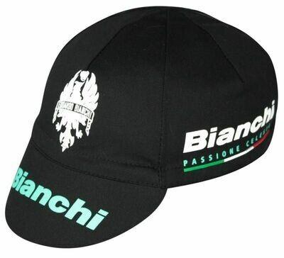 COTTON CAP - BIANCHI BLACK/CELESTE