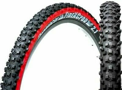 "PANARACER 26x2.10"" FIRE-XC PRO WIRE BEAD TIRE BLACK/RED"