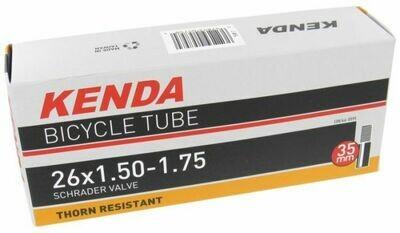 """KENDA 26x1.5/1.75"""" THORN RESISTANT S/V 35mm stem TUBE"""