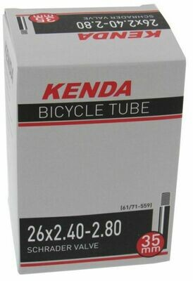 "KENDA 26x2.40/2.80"" (58/71-559) S/V 35mm VALVE TUBE"
