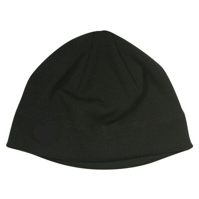 100% New Zealand Merino Wool 18.8 micron beanie BLACK