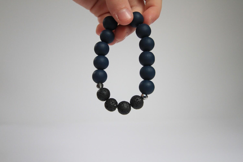 12mm Lava Bead Bracelet