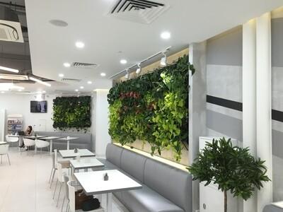 Вертикальные сады на цепях