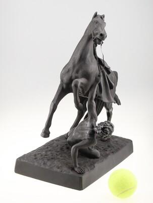 Конь с упавшим всадником