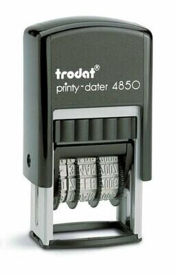 Datario automatico trodat Printy 4850/L con placca di gomma a scelta
