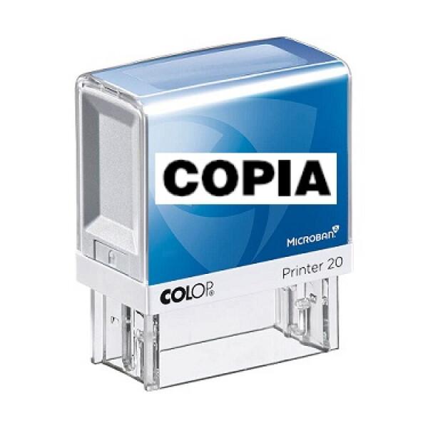 Colop Printer 20 Microban commerciale (con 38 diciture a scelta)