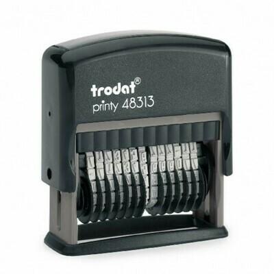 Trodat Printy PRI11 con data di produzione / numero di lotto e placca di gomma