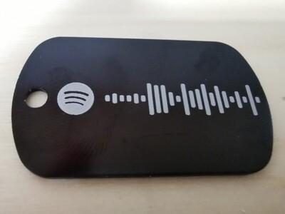 Targhetta con codice Spotify
