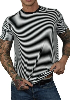 T-Shirt Uomo in cotone a righe - T-Shirt Righe