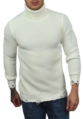 Maglioncino Dolcevita Bianco manica lunga - Dolcevita White