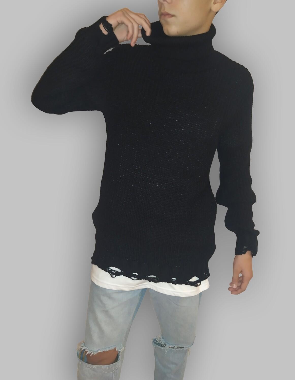 Maglioncino Dolcevita manica lunga nero - Dolcevita Black