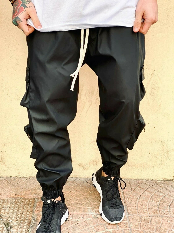 Pantalone Cargo morbido, tasconi con zip - Pantalone Cargo Zipped