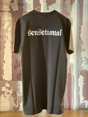 T-Shirt Sensetional Black ricamo