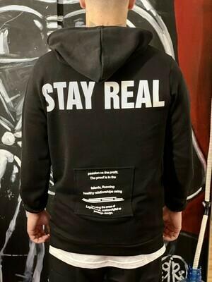 Felpa STAY REAL black