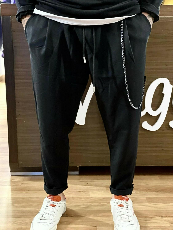Pantalone in viscosa black