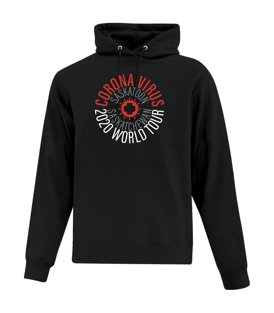 Corona Virus World Tour Black Hoody - Custom Location!