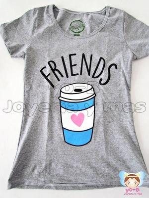 Playera Best Friends VASO DE CAFE