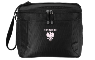 12-can Cube Cooler with logo