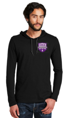 100% Combed Cotton Long Sleeve Hooded Tshirt