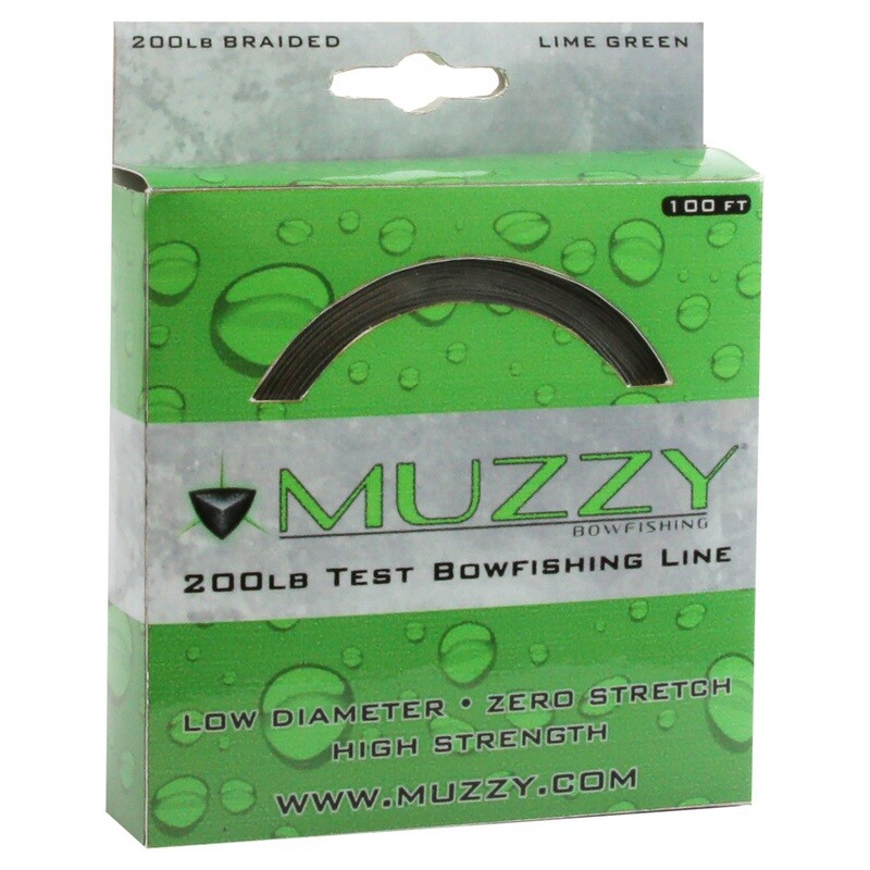 Muzzy Bowfishing Line 200 Lb. Lime Green 100 Ft.