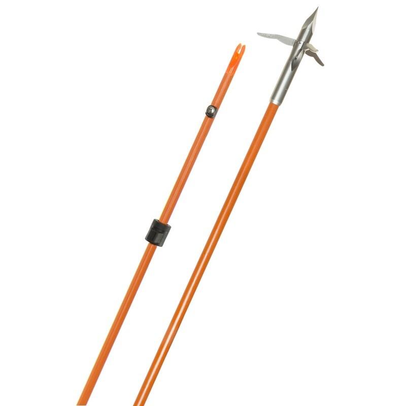 Fin Finder Raider Pro Arrow Orange W/innerloc 3 Barb Grapple Point