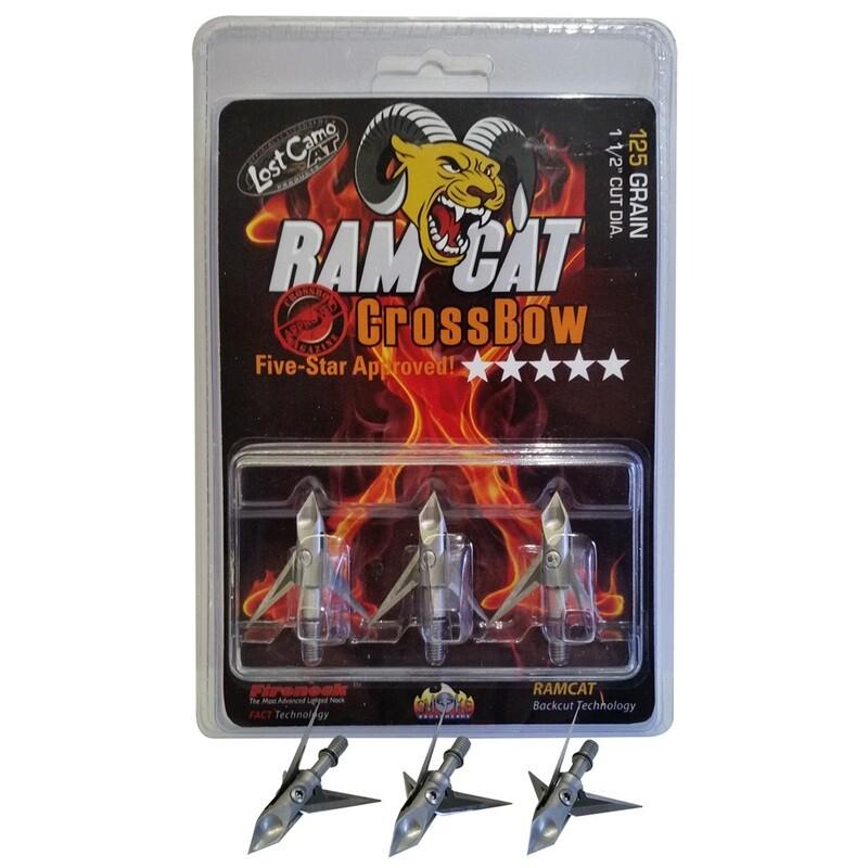 Ramcat Crossbow Broadheads 125 Gr. 3 Pk.