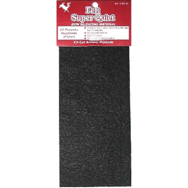 Cir-cut Felt Silencingmaterial Black 3x7 In. 1 Pk.