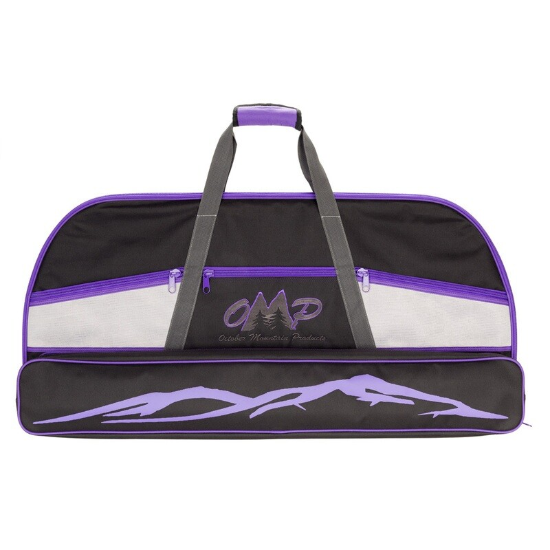 October Mountain Bow Case Black/purple 36 In.