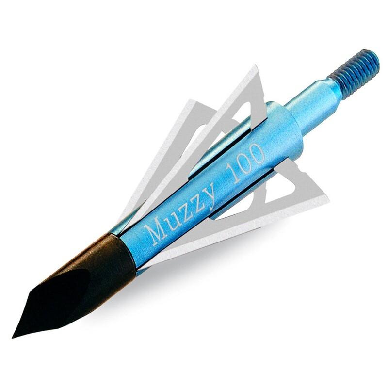 Muzzy Screw-in Broadheads 4 Blade 100 Gr. 6 Pk.
