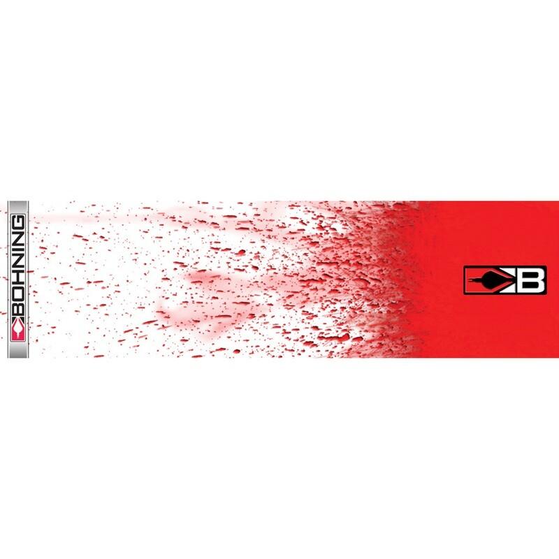 Bohning Arrow Wraps White Blood Splatter 7 In. Standard 13 Pk.