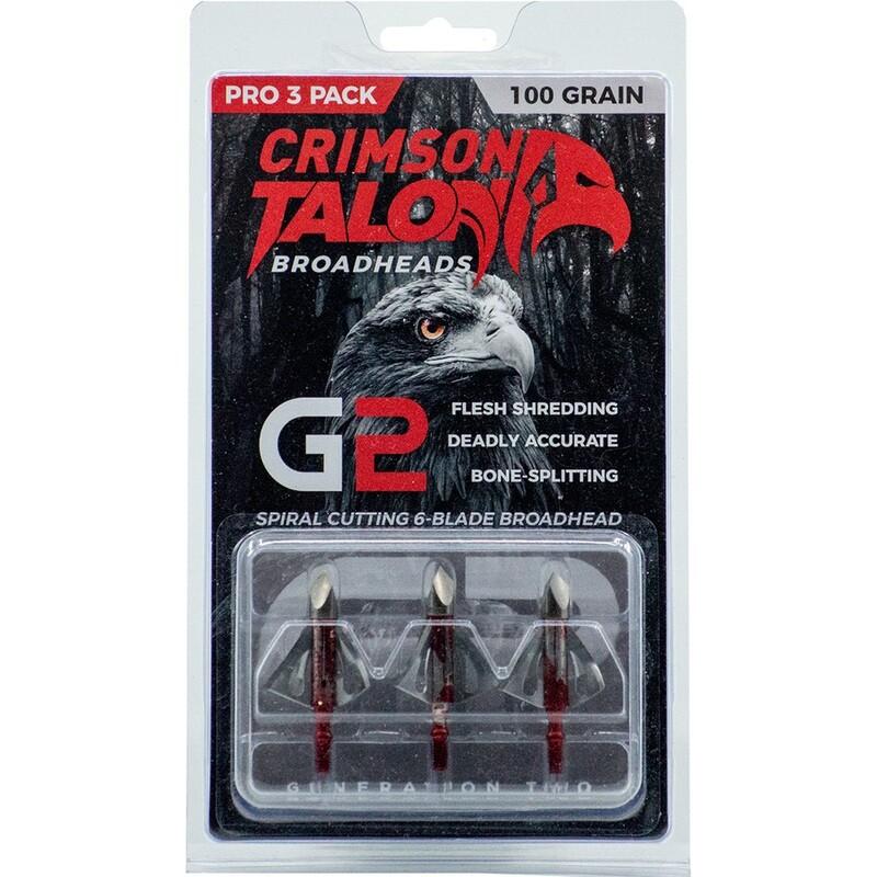 Crimson Talon G2 Broadheads 100 Gr. 3 Pk.