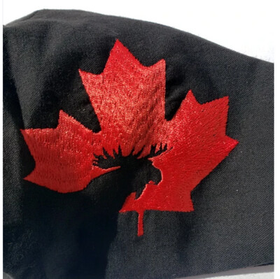 Canada Moose Embroidered Mask