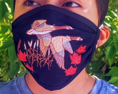Embroidered Canada Geeses Mask