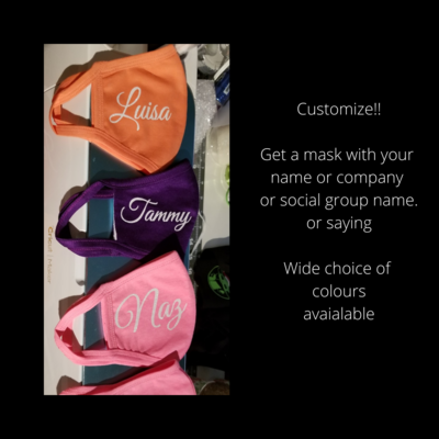 Customize your own mask!