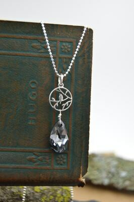 Swarovski Crystal Sparrow Silver Necklace (matching earrings available)